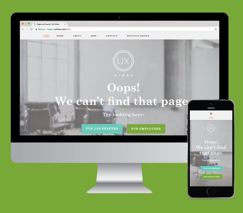 Ux hires 404 mockup